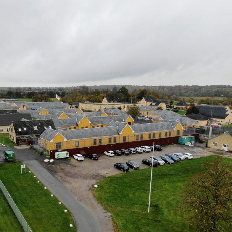 Luftfoto af Ellebæk Udlændingecenter
