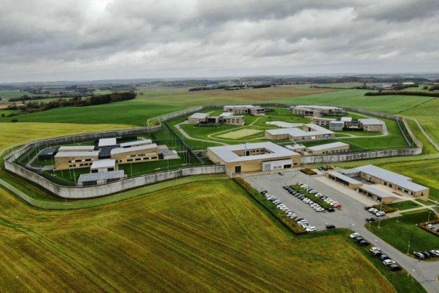 Luftfoto af Enner Mark Fængsel