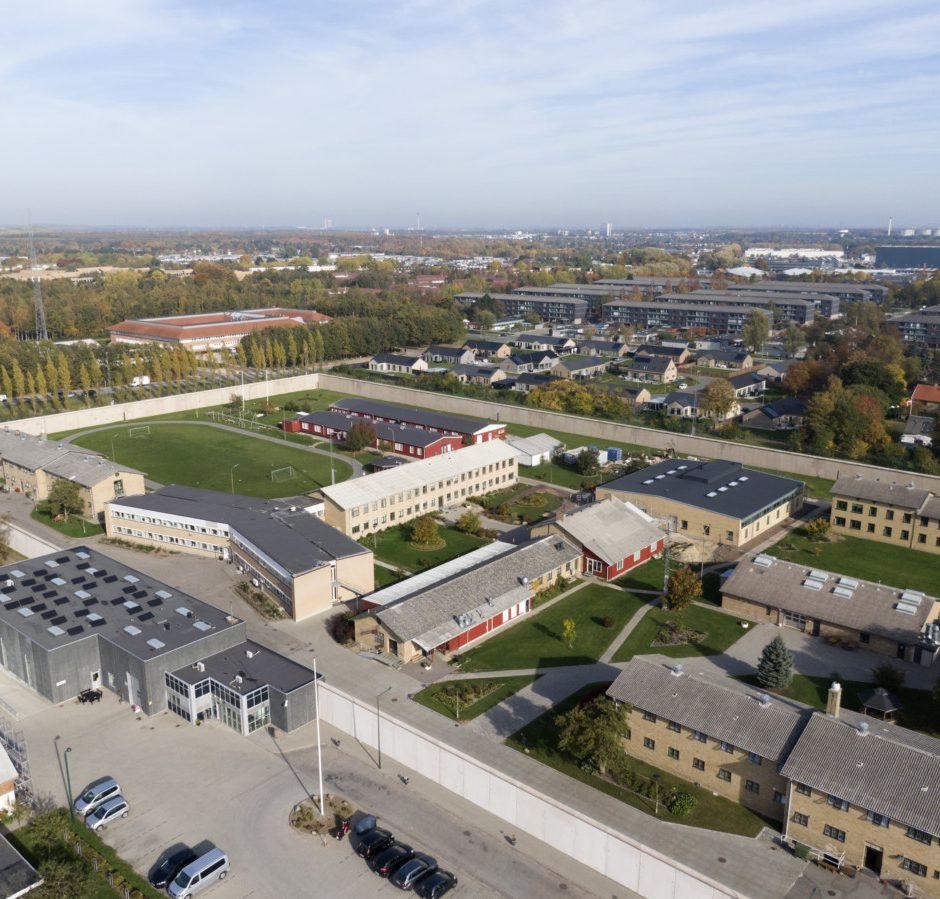 Luftfoto af Herstedvester Fængsel