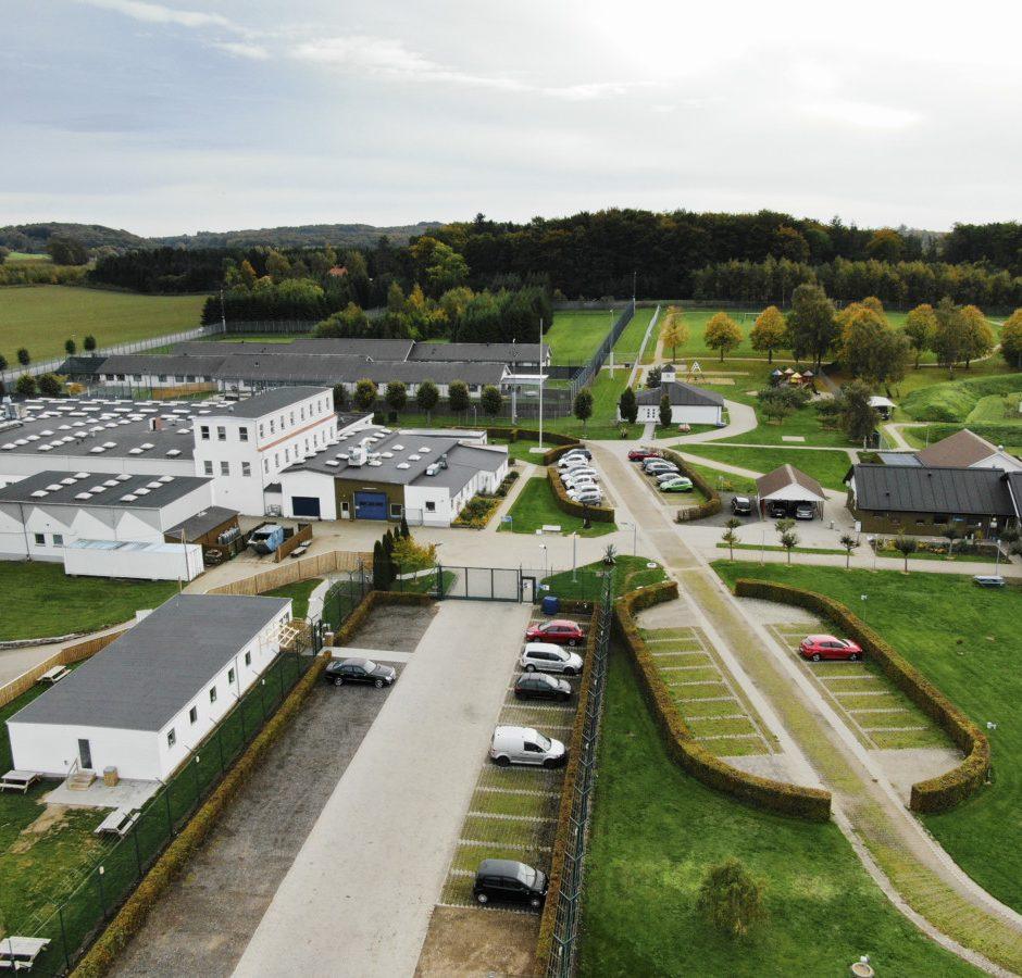 Luftfoto af Jyderup Fængsel