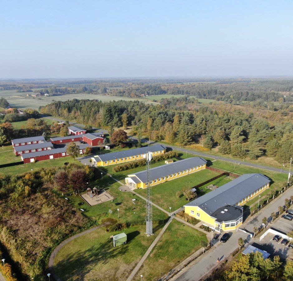 Luftfoto af Kragskovhede Fængsel