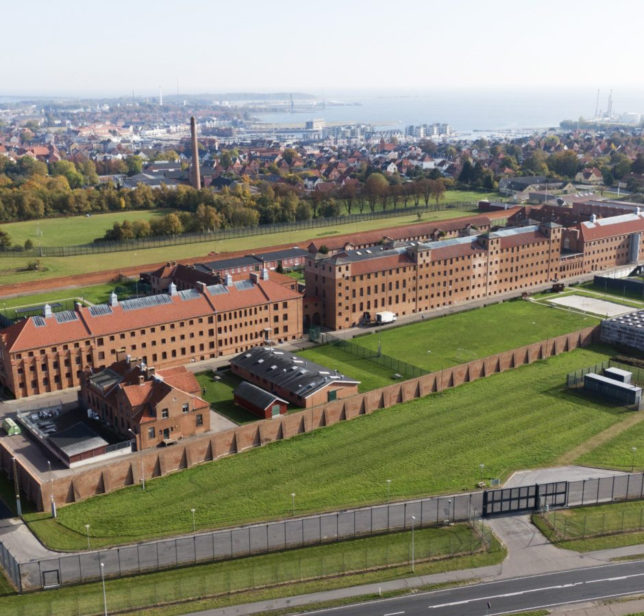 Luftfoto af Nyborg Fængsel