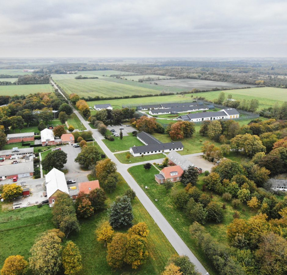 Luftfoto af Renbæk Fængsel
