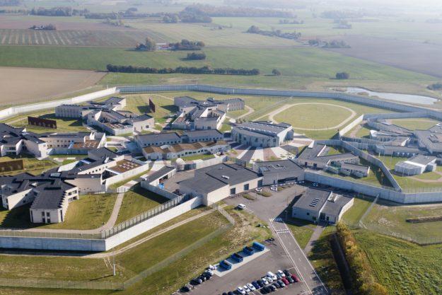 Luftfoto af Storstrøm Fængsel
