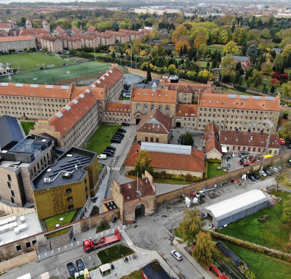 Luftfoto af Vestre Fængsel