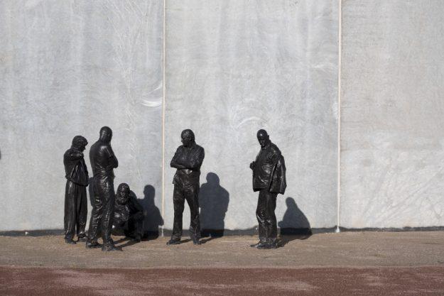 Billede af skulturgruppe fra Storstrøm Fængsel