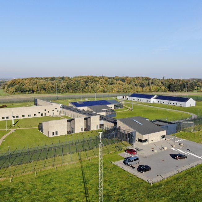 Luftfoto af Søbysøgård Fængsel